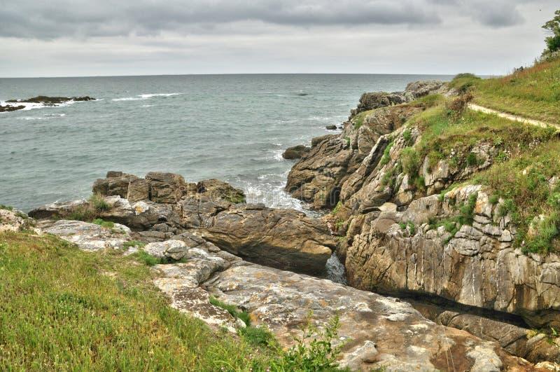 Бретань, Коут Sauvage Ла в sur Mer Batz стоковая фотография rf