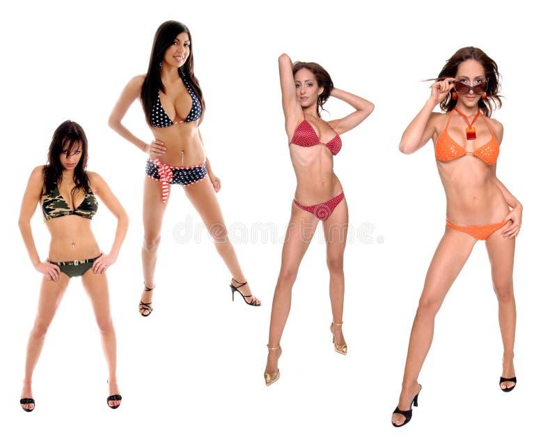 бригада бикини стоковое изображение