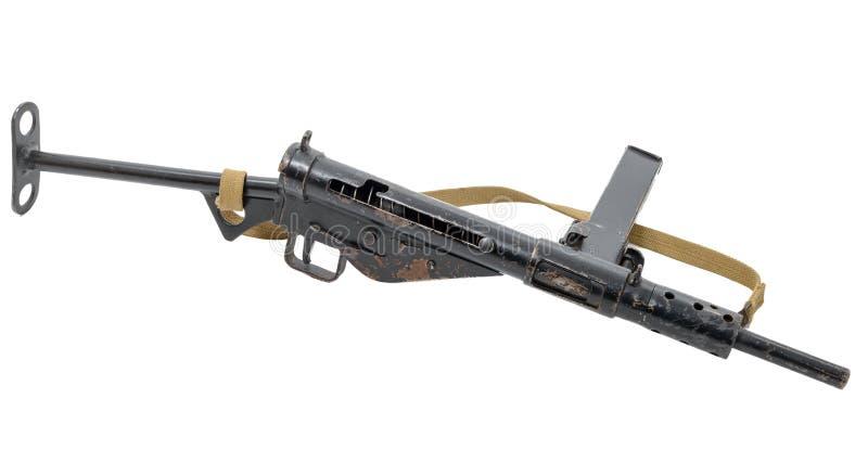 9 Британия Британского Содружества Наций семья обширно пушки большой пушки усилий ii корейское mk2 mm sten submachine в течении и стоковые изображения