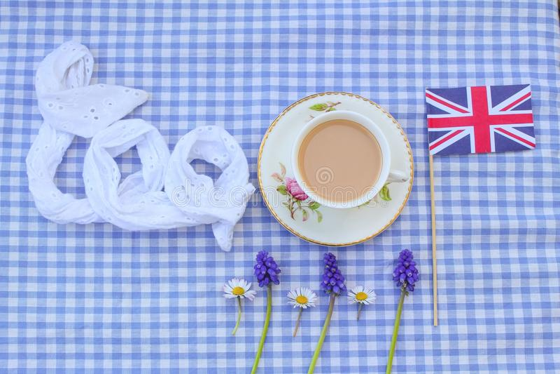 Британцы Cuppa стоковые фотографии rf