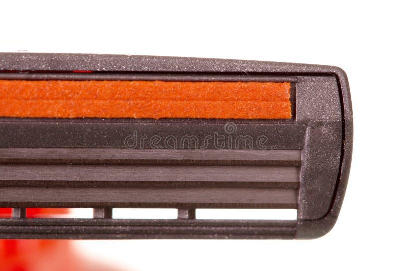 Бритва с концом-вверх 3 лезвий изолированная на белизне стоковое фото