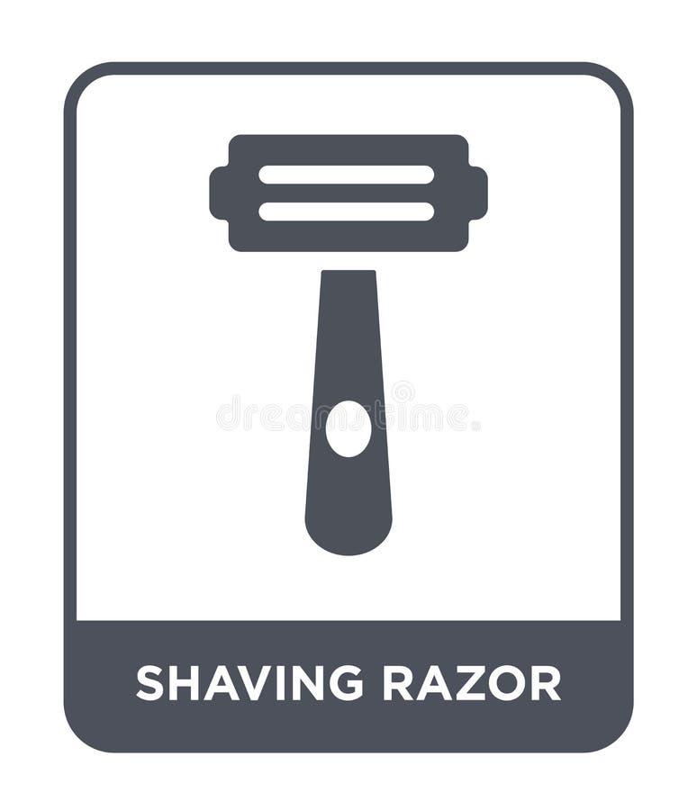 брить значок бритвы в ультрамодном стиле дизайна Бреющ значок бритвы изолированный на белой предпосылке бреющ значок вектора брит иллюстрация штока