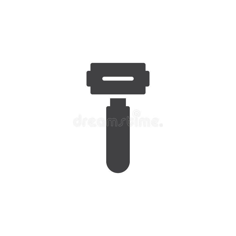 Брить значок вектора бритвы иллюстрация вектора