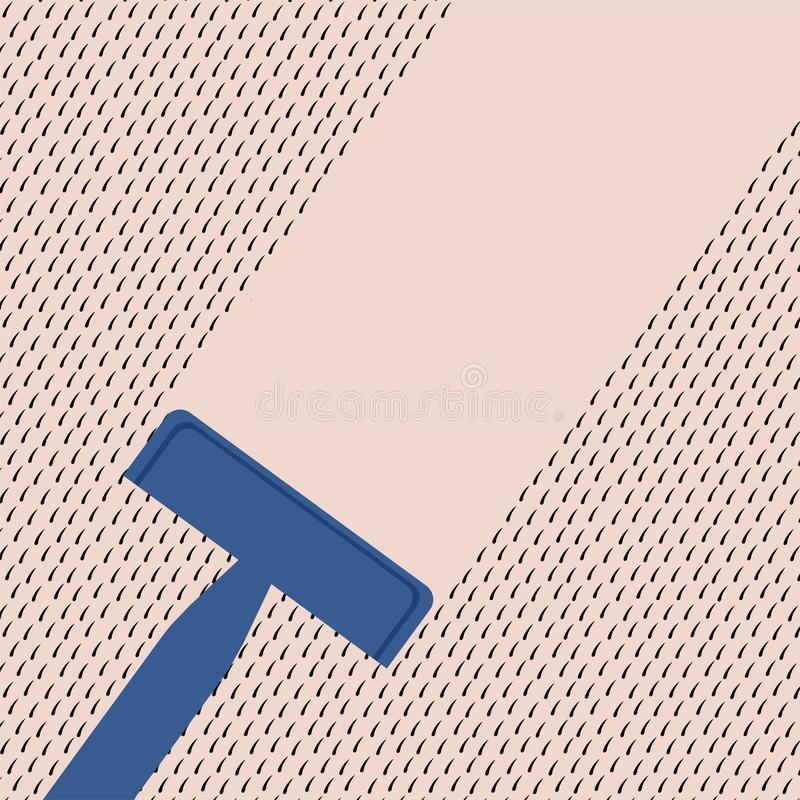 Брить иллюстрацию кожи иллюстрация вектора