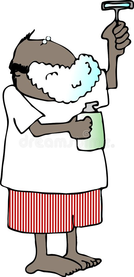 брить человека иллюстрация штока