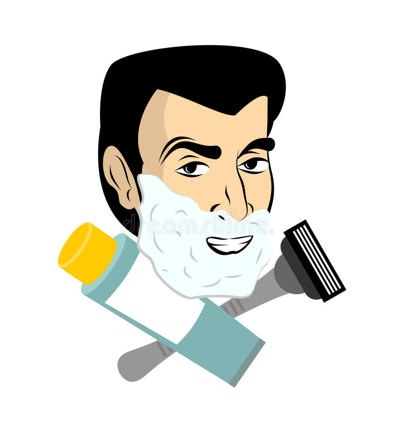 Картинки мужчина бреется вектор