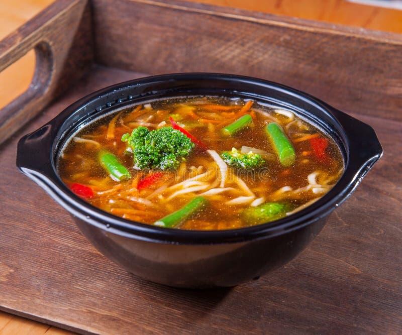 Брокколи овощей лапшей супа еды стоковые изображения rf