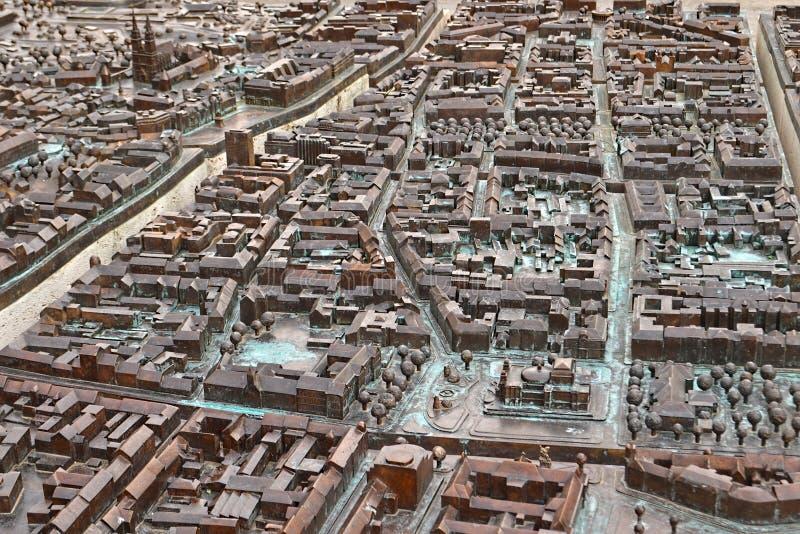 Бронзовая модель города Загреба (Загреб приветствует вас), Хорватия стоковое фото rf