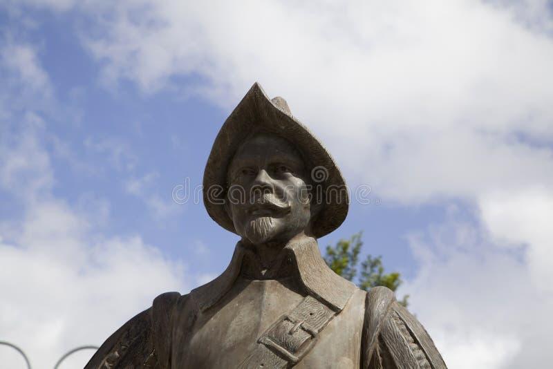 Бронзовая статуя испанского конкистадора Bayamon Пуэрто-Рико стоковая фотография rf