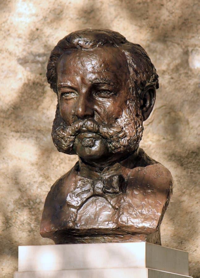 Бронзовая статуя Henri или Генри Dunant, Женева, стоковые фото