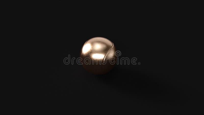 Бронзовый латунный теннисный мяч стоковое фото