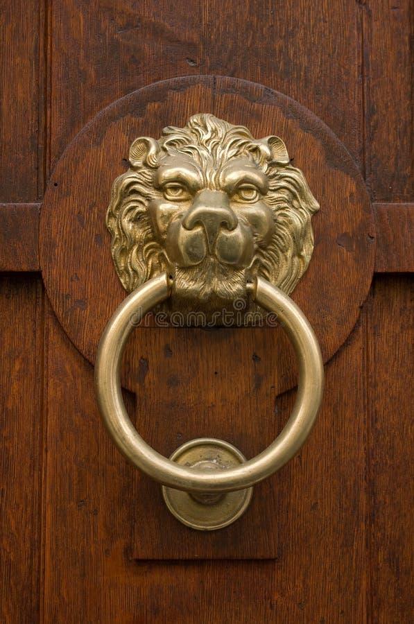 бронзовый knocker двери стоковая фотография