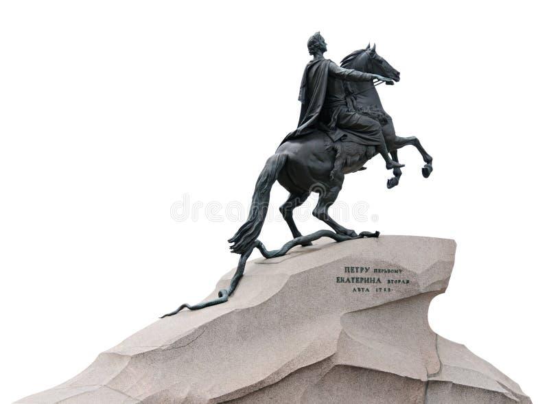 бронзовый st petersburg памятника наездника стоковые изображения