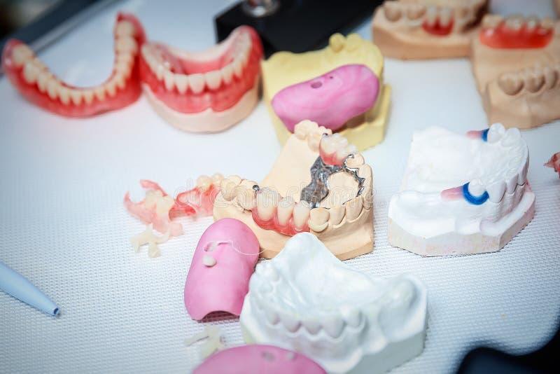 Бросания dentures стоковое изображение