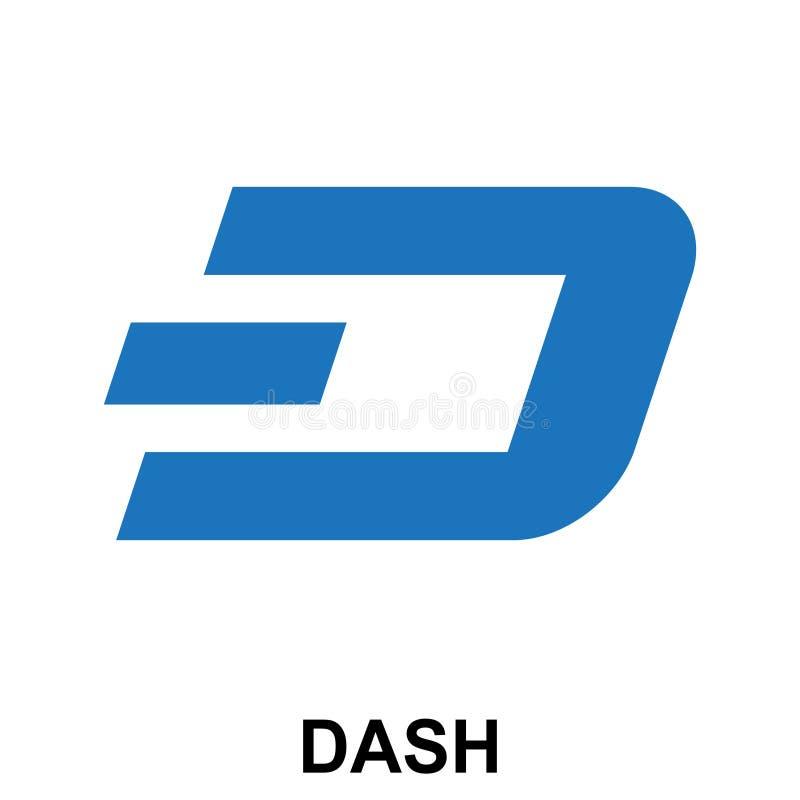Бросьтесь логотип секретного blockchain валюты плоский изолированный на белой предпосылке иллюстрация вектора