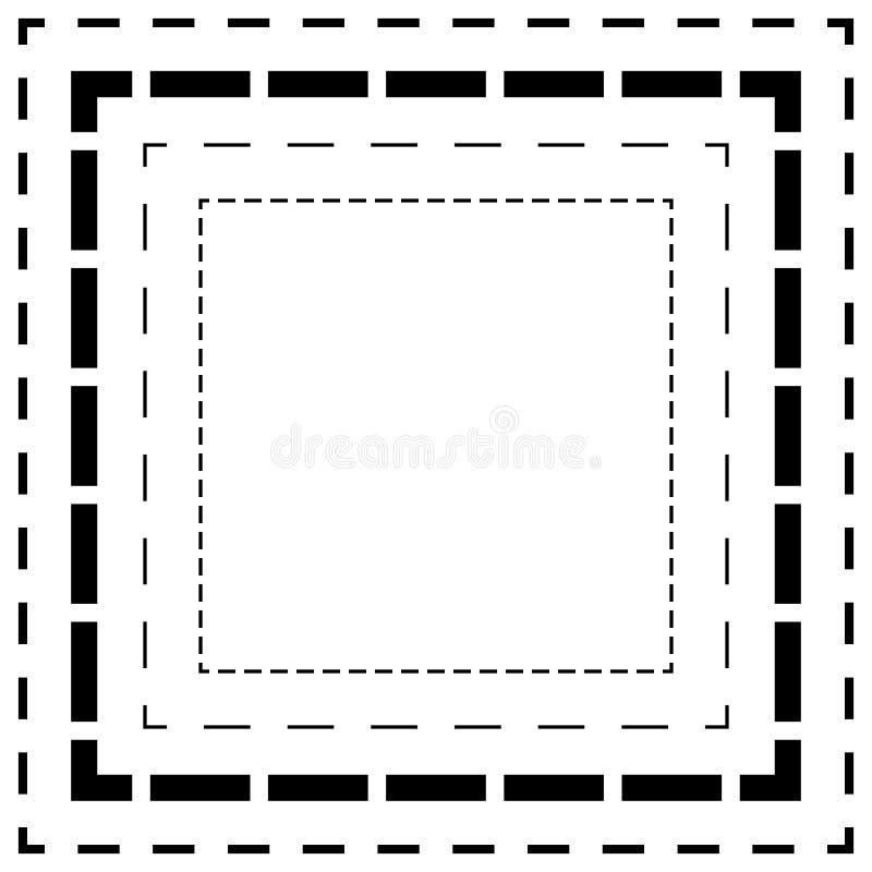 Download Брошенная линия квадраты Тонкие и толстые линии Линии отрезка, отрезок квадрата Иллюстрация вектора - иллюстрации насчитывающей divide, backhoe: 81811346