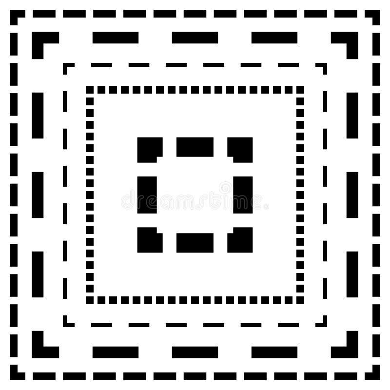 Download Брошенная линия квадраты Тонкие и толстые линии Линии отрезка, отрезок квадрата Иллюстрация вектора - иллюстрации насчитывающей минимально, рассекатель: 81811360