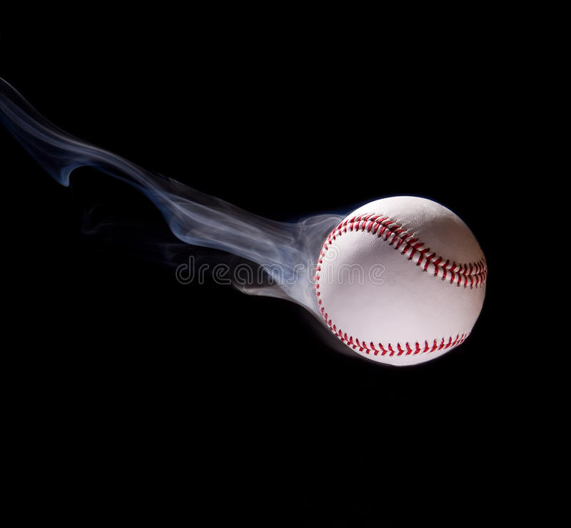 брошенный бейсбол стоковая фотография rf