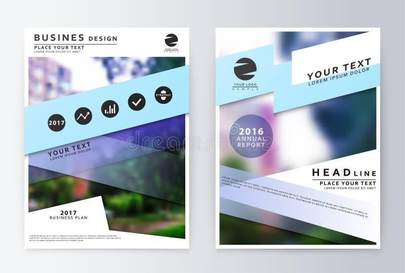 Брошюра годового отчета Шаблон дизайна рогульки бизнес-плана иллюстрация вектора