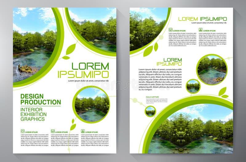 Брошюра дела Конструкция рогульки Шаблон листовок a4 бесплатная иллюстрация