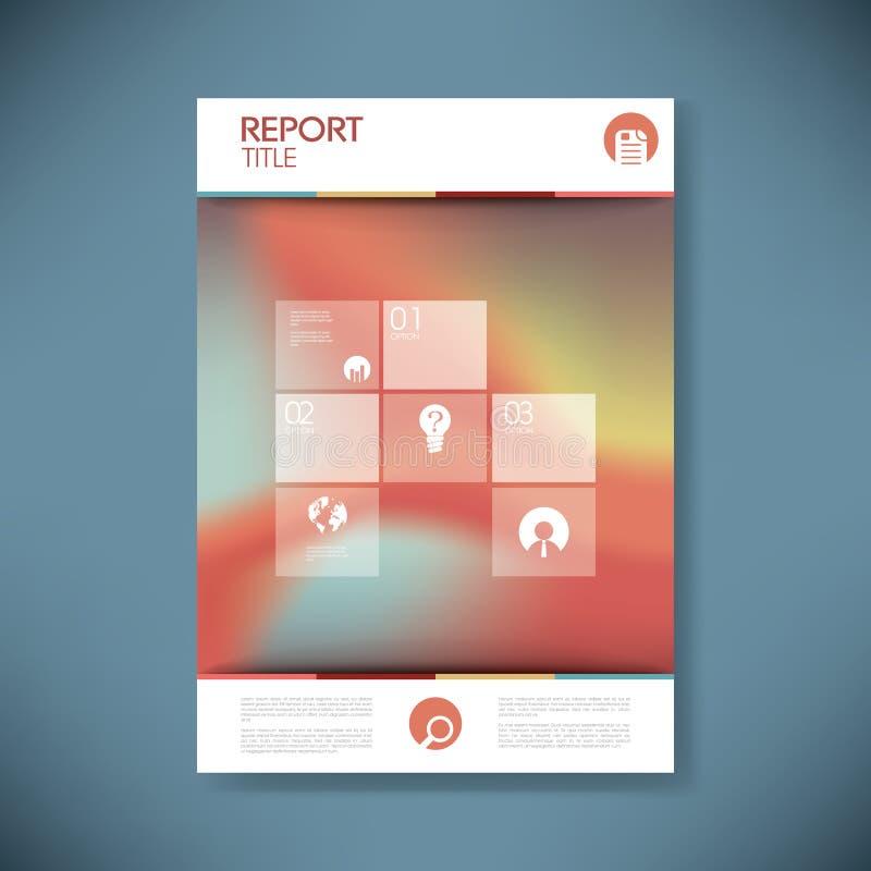 Брошюра или предусматрива годового отчета с конспектом бесплатная иллюстрация