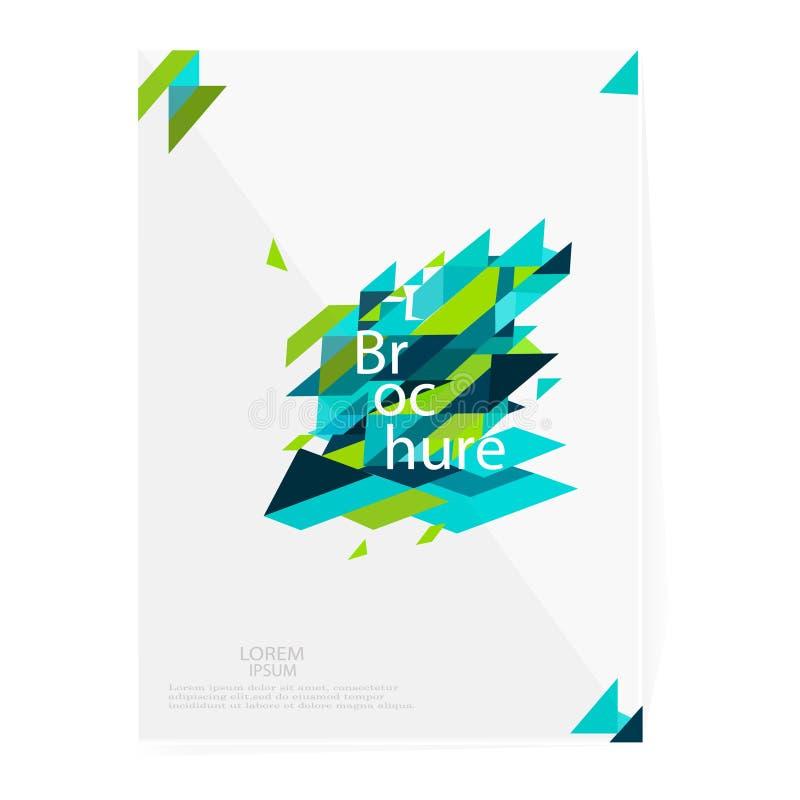 Брошюра, листовка, рогулька, шаблон крышки Дизайн Minimalistic, творческая концепция, vec современной раскосной абстрактной предп бесплатная иллюстрация