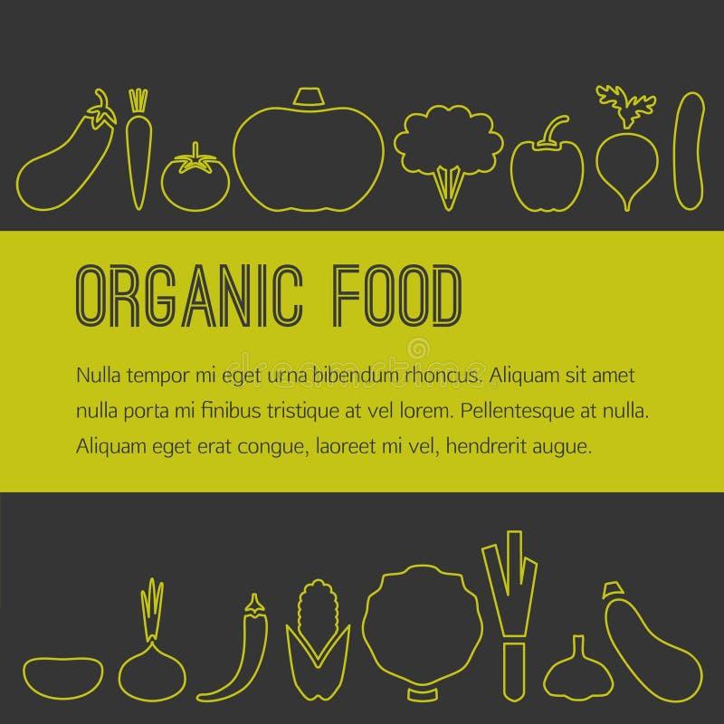 Брошюра натуральных продуктов бесплатная иллюстрация
