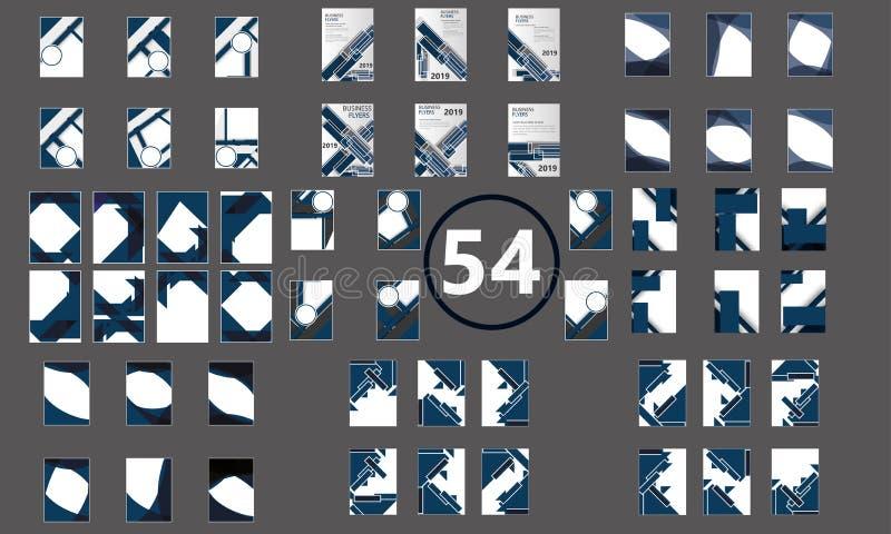 Брошюра о новых концепциях 54 шаблона рекламных листовок Creative Flyer (Mega Collection of 54 Creative Flyer Template) иллюстрация вектора