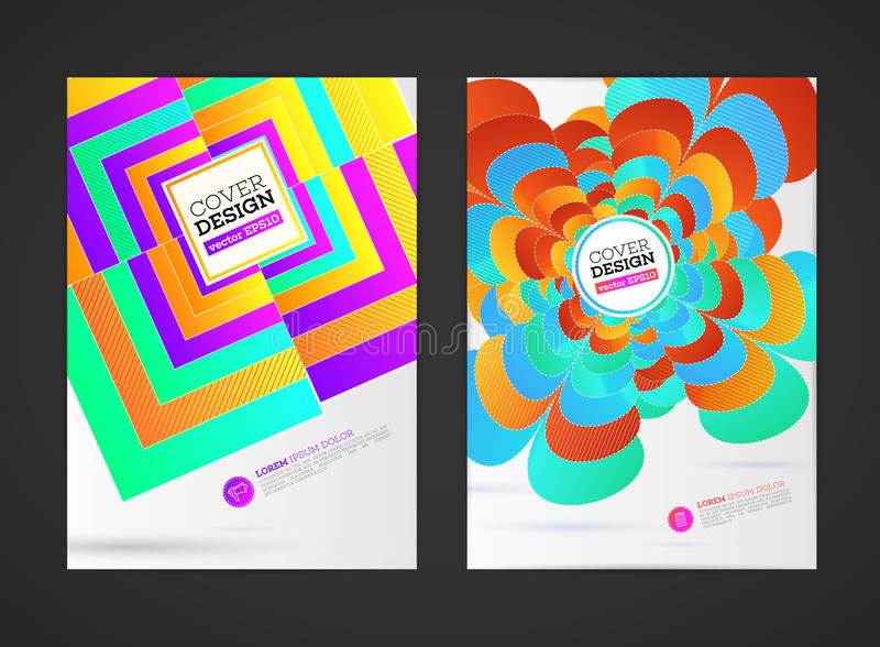 Брошюра рогулек абстрактного вектора современная, иллюстрация штока
