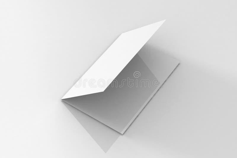 Брошюра Bi-створки A5/модель-макет листовки на изолированной белой предпосылке бесплатная иллюстрация