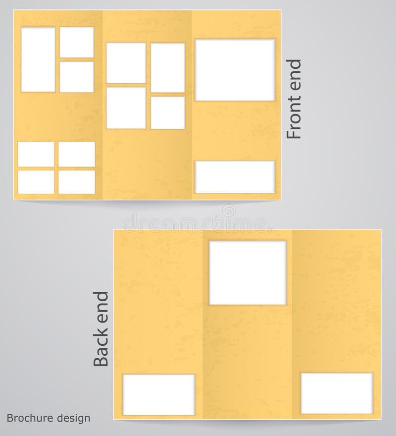 Download Брошюры плана trifold иллюстрация вектора. иллюстрации насчитывающей форма - 33736392