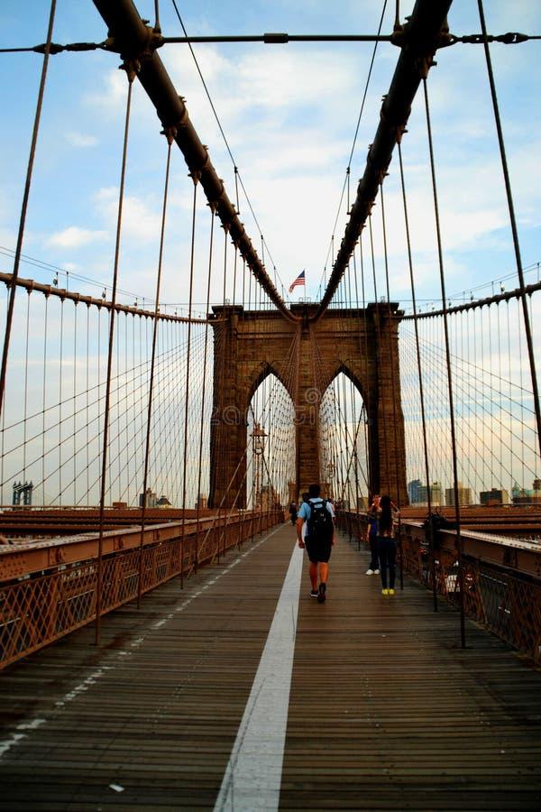 Бруклинский мост в лете стоковая фотография rf