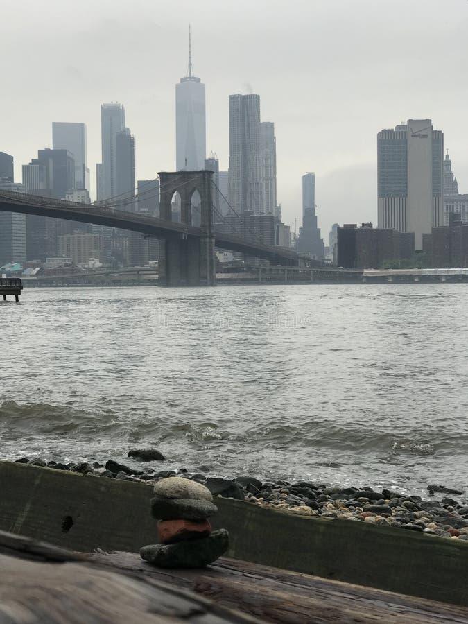 Бруклинский мост и взгляд Манхэттена стоковая фотография