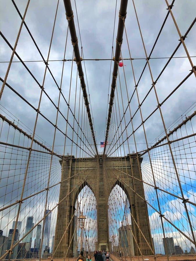 Бруклинский мост, Нью-Йорк стоковое изображение rf
