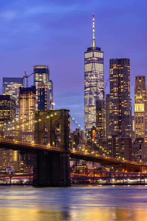 Бруклинский мост Нью-Йорк стоковые фотографии rf