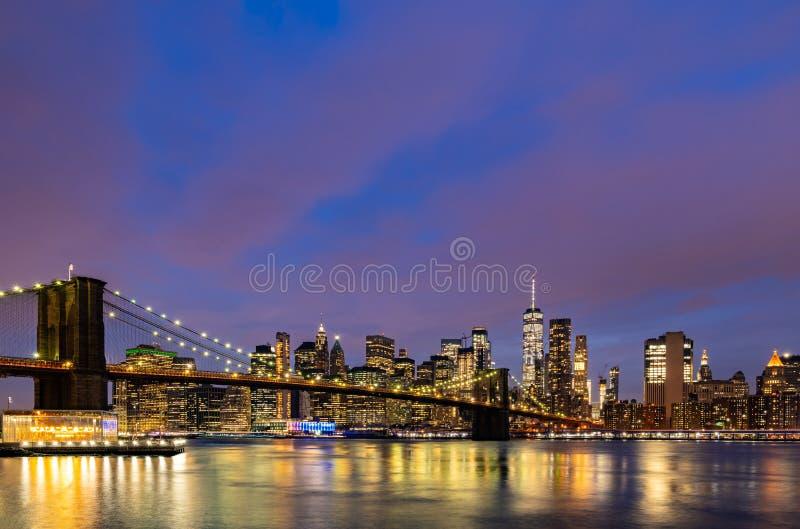 Бруклинский мост Нью-Йорк стоковое фото