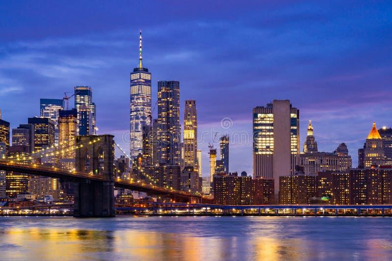 Бруклинский мост Нью-Йорк стоковые фото