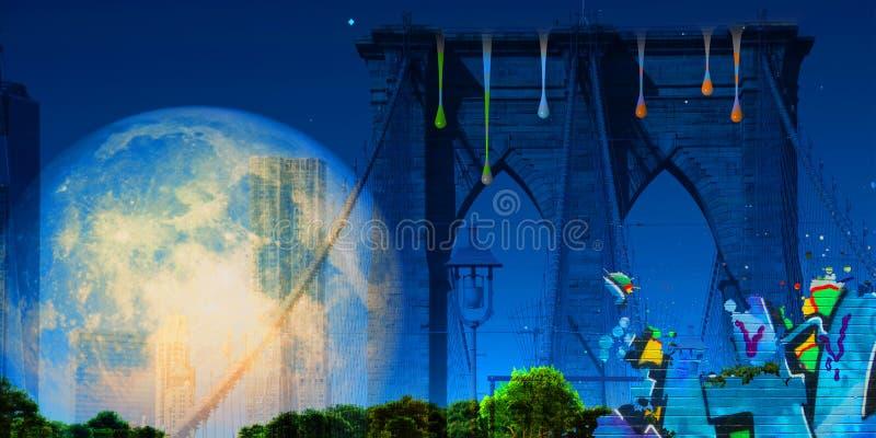 Бруклинский мост бесплатная иллюстрация