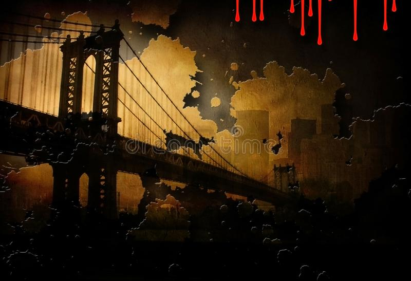 Бруклинский мост иллюстрация штока