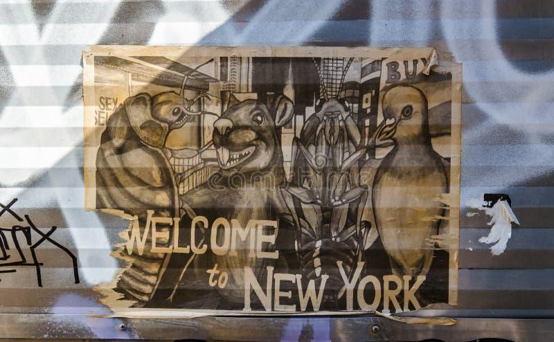 Download БРУКЛИН, NYC, США, 1-ое октября 2013: Искусство улицы в Бруклине Старый P Редакционное Изображение - изображение насчитывающей крыса, положение: 40586725