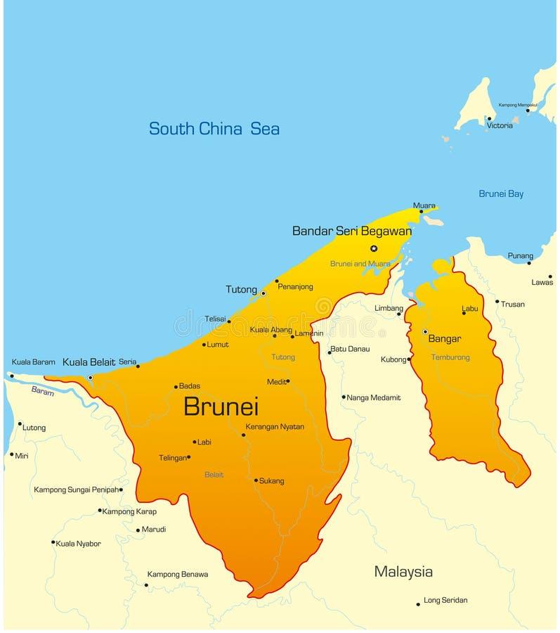 Бруней иллюстрация вектора