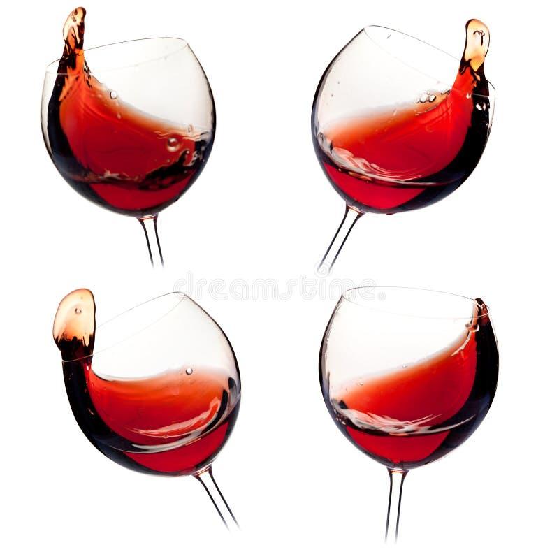 брызгает различное вино стоковое фото