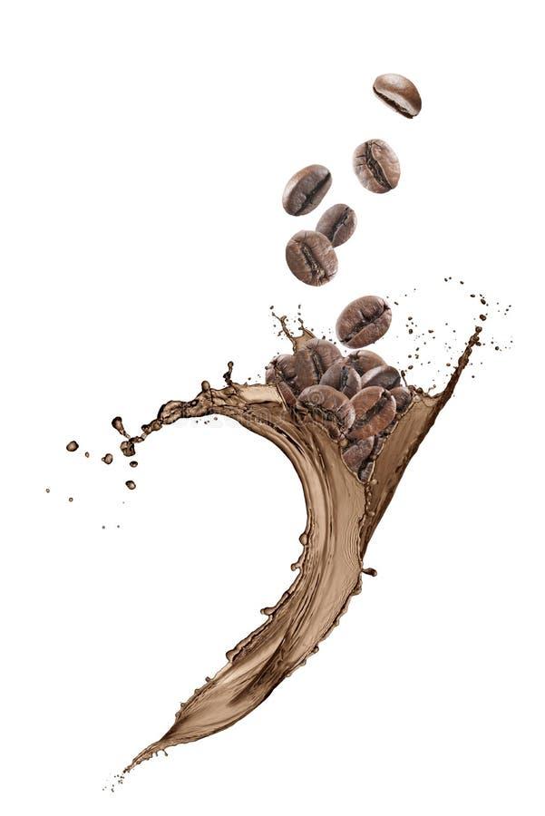 Брызгать кофе волны стоковое изображение rf