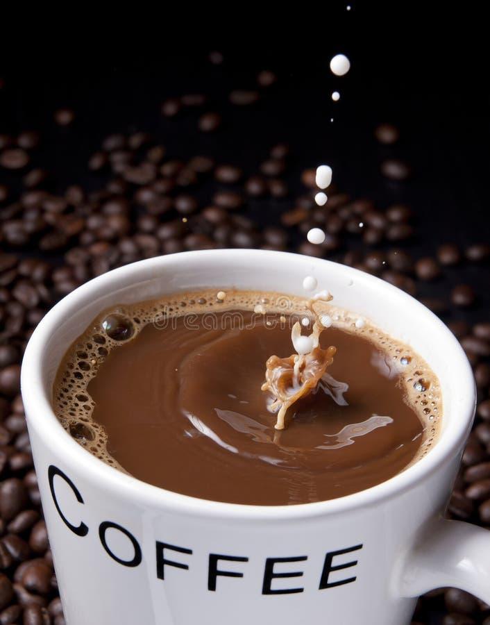брызгать молока кофе стоковая фотография