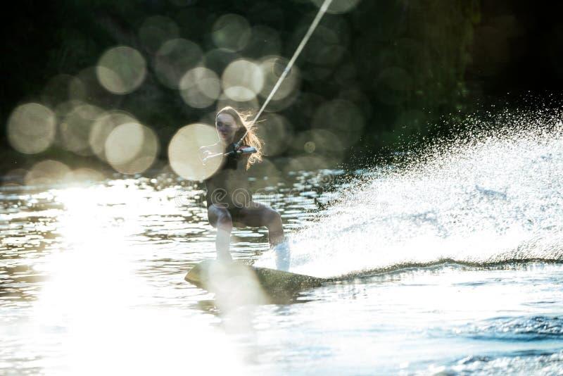 Брызгать wakeboard стоковые фотографии rf