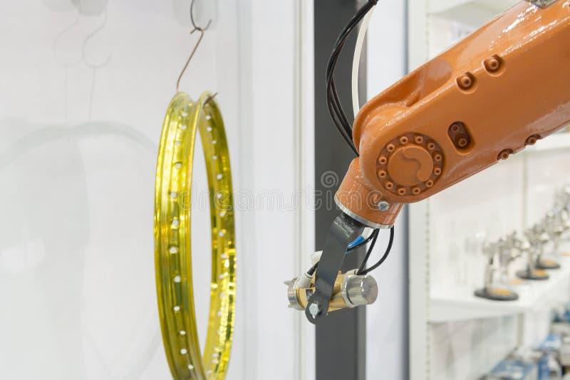 Брызг робота картины краска стоковое изображение
