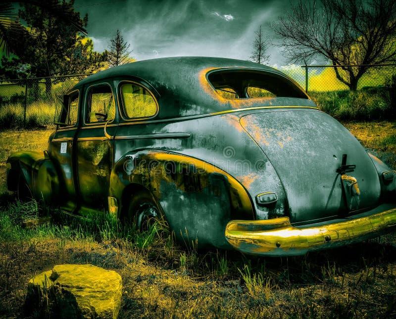 Брызнутый автомобиль стоковое изображение