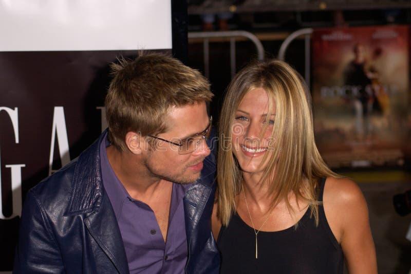 Брэд Питт, Дженнифер Aniston стоковые изображения rf