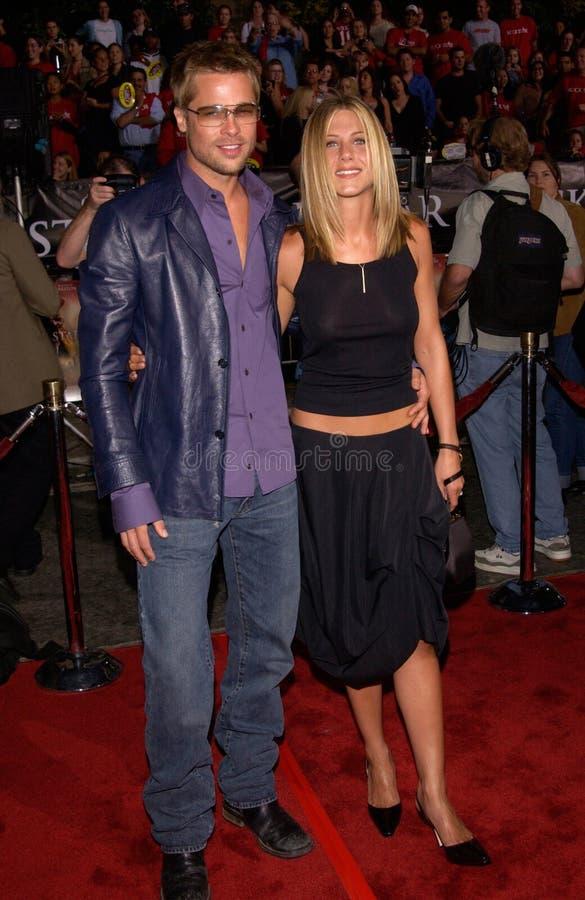 Брэд Питт, Дженнифер Aniston стоковое фото