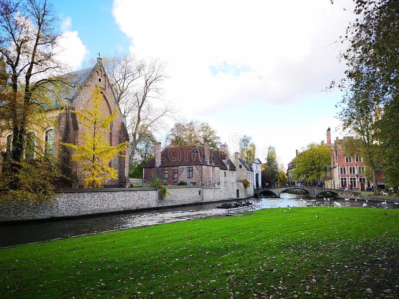 Брюгге, Brugge, Бельгия Бельгия bruges город средневековый стоковые изображения rf